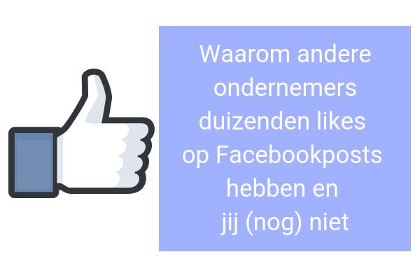 duizenden likes op Facebookpost