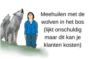 Meehuilen met de wolven in het bos